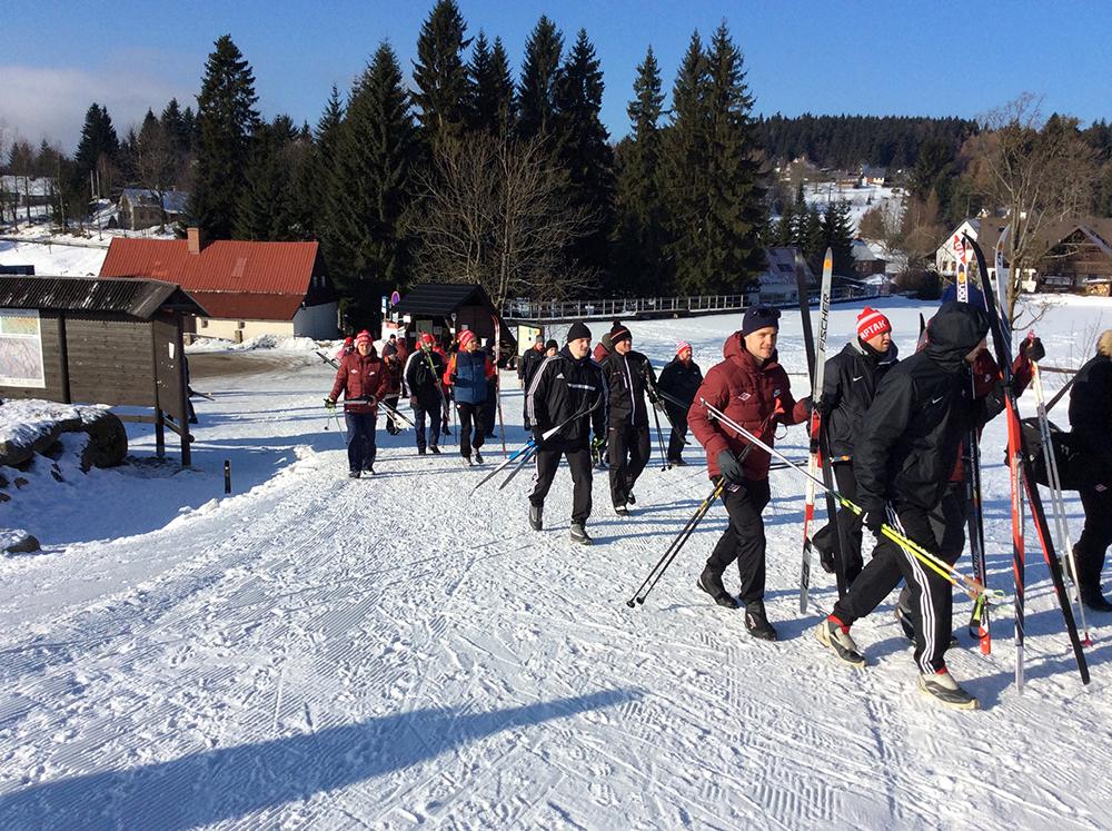 «Спартак» встал на лыжи (Видео)