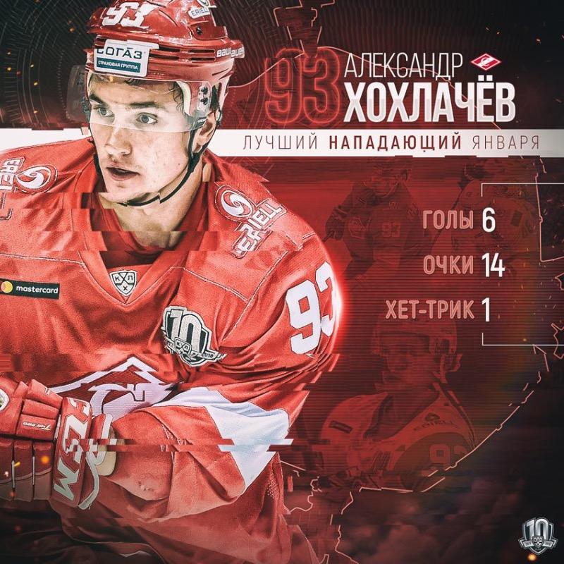 Александр Хохлачев – лучший нападающий января в КХЛ (Видео)