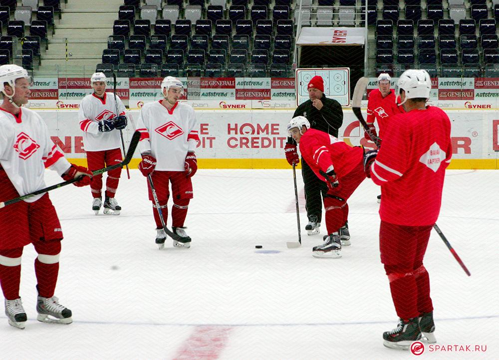 Первый тренировочный день «Спартака» в Чехии